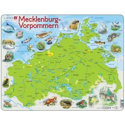 Larsen-K94-DE Puzzle Cadre - Mecklenburg-Vorpommern (en Allemand)