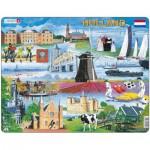 Larsen-KH10 Puzzle Cadre - Souvenirs des Pays-Bas