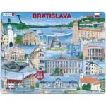 Larsen-KH17-EN Puzzle Cadre - Souvenirs de Bratislava, Slovaquie (en Anglais)