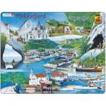 Larsen-KH5 Puzzle Cadre - Souvenirs de Flekkefjord, Finlande