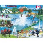 Larsen-KH6-GB Puzzle Cadre - Souvenirs du Canada
