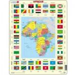 Larsen-KL3-FR Puzzle Cadre - Carte de l'Afrique