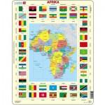 Larsen-KL3-NL Puzzle Cadre - Carte de l'Afrique (en Hollandais)