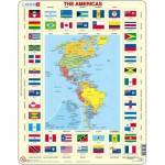 Puzzle  Larsen-KL4-GB Amériques et Drapeaux