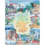 Larsen-KS2-GB Puzzle Cadre - Sites Touristiques d'Allemagne