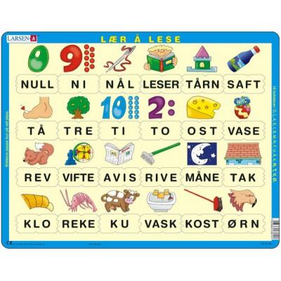 Larsen-LS10-NO Puzzle Cadre - Apprendre à Lire le Norvégien 2 (en Norvégien)