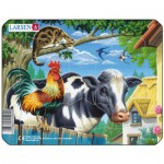 Larsen-M5-2 Puzzle Cadre - La Vache et le Coq