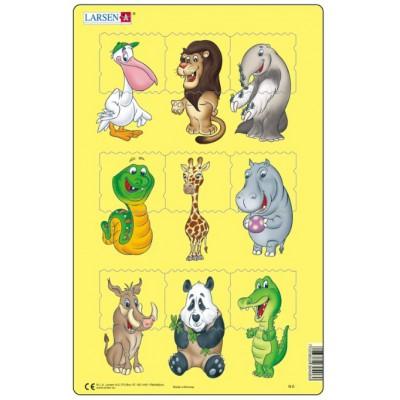 Larsen-N6-1 Puzzle Cadre - Bébés Animaux