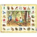 Larsen-NA4-DE Puzzle Cadre - Apprendre l'Allemand : En Forêt (en Allemand)