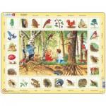 Larsen-NA4-GB Puzzle Cadre - Apprendre l'Anglais : En Forêt (en Anglais)