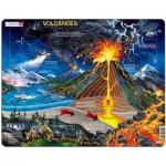 Larsen-NB2-GB Puzzle Cadre - Le Volcan (en Anglais)