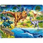 Larsen-NB3 Puzzle Cadre - Dinosaures