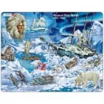 Larsen-NB7-ES Puzzle Cadre - Hacia el Polo Norte (en Espagnol)