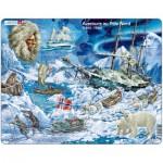 Larsen-NB7-FR Puzzle Cadre - Aventure au Pôle Nord (en Français)