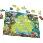 Puzzle Cadre - Carte et Faune de la Biélorussie (Russe)