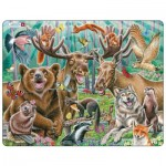 Puzzle Cadre - Selfie des Animaux de la Forêt