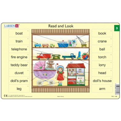Larsen-RA02-EN-3-4 2 Puzzles Cadres - Apprendre l'Anglais : Read and Look 03-04 (en Anglais)