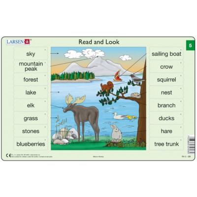 Larsen-RA03-EN-5-6 2 Puzzles Cadres - Apprendre l'Anglais : Read and Look 05-06 (en Anglais)