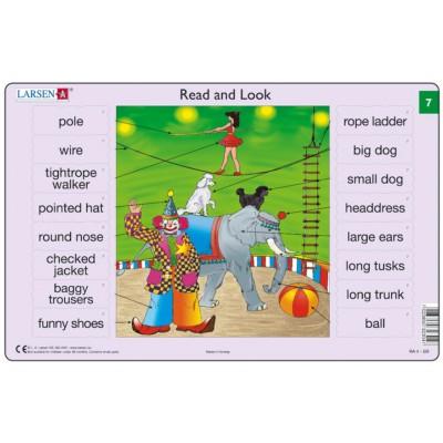 Larsen-RA04-EN-7-8 2 Puzzles Cadres - Apprendre l'Anglais : Read and Look 07-08 (en Anglais)