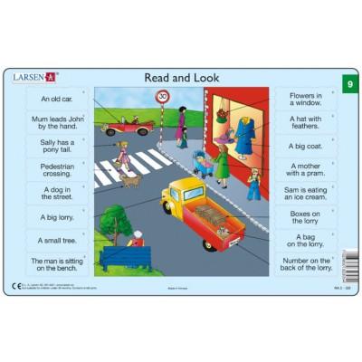 Larsen-RA05-EN-9-10 2 Puzzles Cadres - Apprendre l'Anglais : Read and Look 09-10 (en Anglais)