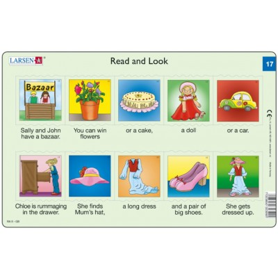 Larsen-RA09-EN-17-18 2 Puzzles Cadres - Apprendre l'Anglais : Read and Look 17-18 (en Anglais)