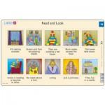 Larsen-RA10-EN-19-20 2 Puzzles Cadres - Apprendre l'Anglais : Read and Look 19-20 (en Anglais)