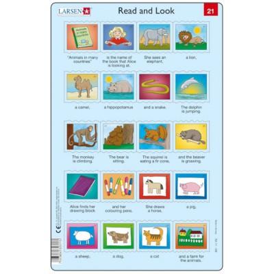 Larsen-RA11-EN-21-22 2 Puzzles Cadres - Apprendre l'Anglais : Read and Look 21-22 (en Anglais)