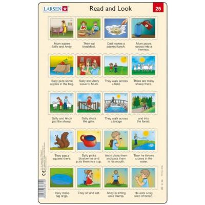 Larsen-RA13-EN-25-26 2 Puzzles Cadres - Apprendre l'Anglais : Read and Look 25-26 (en Anglais)