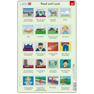 Larsen-RA14-EN-27-28 2 Puzzles Cadres - Apprendre l'Anglais : Read and Look 27-28 (en Anglais)