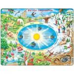 Larsen-SS3-DE Puzzle Cadre - Les Saisons (en Allemand)
