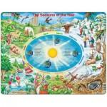 Larsen-SS3-GB Puzzle Cadre - Les Saisons (en Anglais)