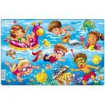 Larsen-U18-1 Puzzle Cadre - Jeux d'enfants à la Mer