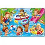 Larsen-U18-2 Puzzle Cadre - Jeux d'enfants à la Mer