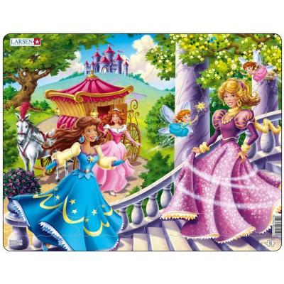 Larsen-US10 Puzzle Cadre - Princesses