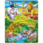 Larsen-US16 Puzzle Cadre - Animaux de la Jungle