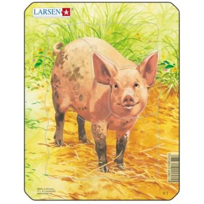 Larsen-V1-4 Puzzle Cadre - Cochon