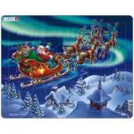 Larsen-XM1 Puzzle Cadre - Le Père Noël dans les Lumières Nordiques