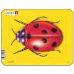 Larsen-Z2-4 Puzzle Cadre - Coccinelle