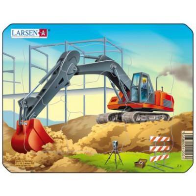 Larsen-Z3-1 Puzzle Cadre - Pelleteuse