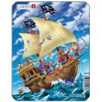 Larsen-Z7-3 Puzzle Cadre - Bateau de Pirates