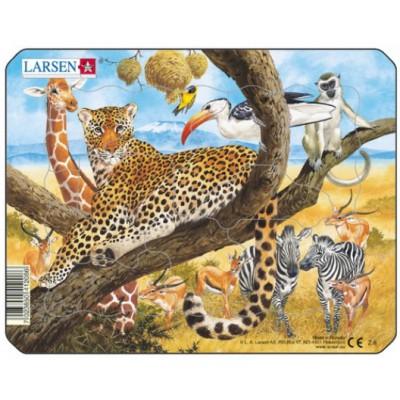 Larsen-Z8-2 Puzzle Cadre - Animaux de la Jungle