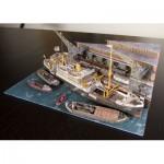 Puzzle  Schreiber-Bogen-3476 Maquette en Carton : Diorama du Port de Hambourg