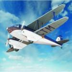 Puzzle  Schreiber-Bogen-610 Maquette en carton : De Havilland DH89 Dragon Rapide