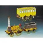 Puzzle  Schreiber-Bogen-71554 Maquette en carton : Train à vapeur Stephenson's Planet