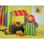Puzzle  Schreiber-Bogen-72375 Maquette en Carton : Femme de marché avec étal de vente