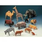 Puzzle  Schreiber-Bogen-72399 Maquette en Carton : Douze Animaux de Zoo