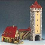 Puzzle  Schreiber-Bogen-72455 Maquette en Carton : La tour de Rothenbourg