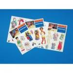 Puzzle   Ensemble de poupées habillées 1 - 3 tenues différentes
