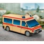 Maquette en carton : Ambulance
