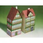 Maquette en Carton : Deux Maisons à Colombages